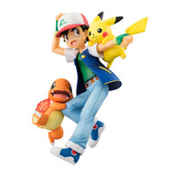 G.E.M. Series Pokemon Ash Ketchum&Pikachu&Charmander PVC Figure