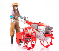 PLAMAX MF-28: minimum factory Inaho with Honda F90 Tiller Cage Wheel Type Plastic Model