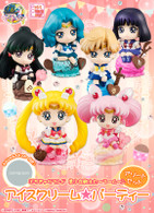 Petit Chara Land  Sailor Moon Ice cream Party Assorted Set PVC Figure