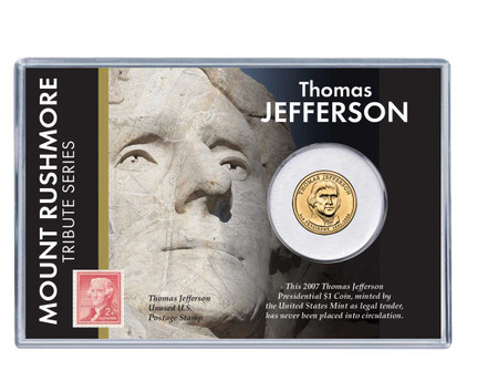 Mt Rushmore Series Thomas Jefferson Dollar Coin And Stamp Set