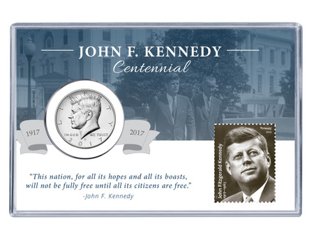 John F Kennedy Centennial Coin And Stamp Set