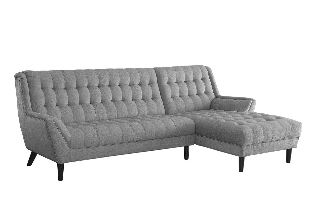 Wonderful Coaster Natalia Contemporary Sectional Sofa In Dove Grey 2