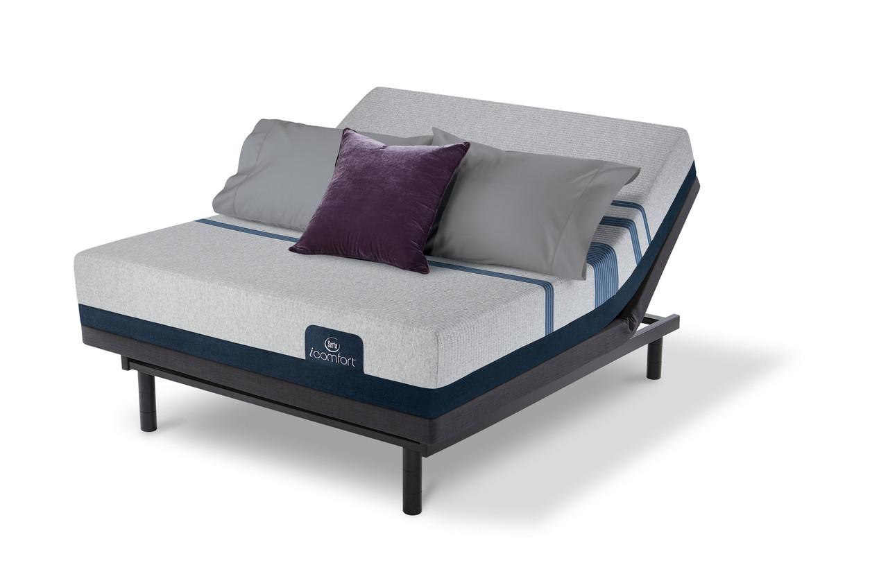 serta icomfort blue 300 firm mattress with motion essentials iii adjustable bed set. Black Bedroom Furniture Sets. Home Design Ideas