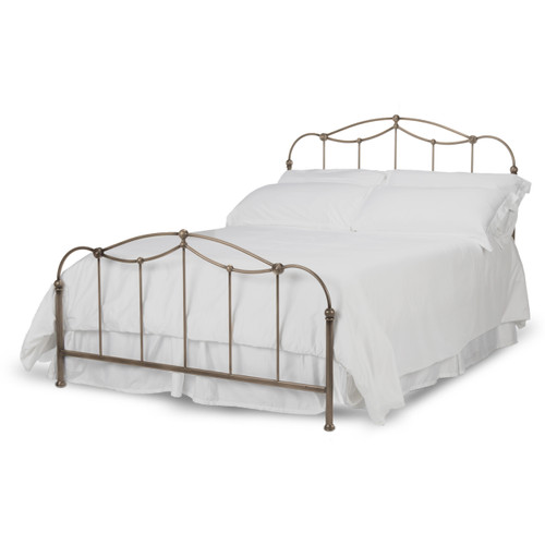 Fashion Bed Group Kalina Metal Panel Bed in Brushed Bronze