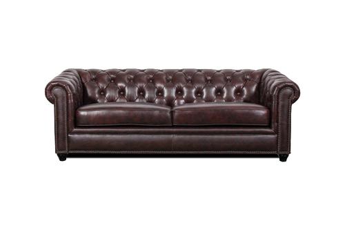 J Graham Parker Genuine Top Grain Leather Chesterfield Sofa 2