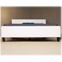 Fashion Bed Group Euro Upholstered Platform Bed, White