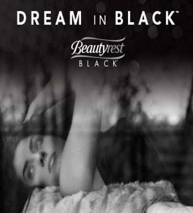 Beautyrest Black Ad with sleeping woman