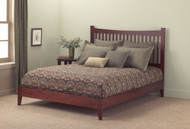 Fashion Bed Group Jakarta Platform Bed in Mahogony