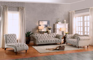 Homelegance Chesterfield Sofa, love seat, chaise set