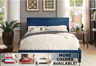 Blue Homelegance Platform Bed in a Box with additional colors
