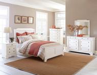 Homelegance Derby Run 4-Piece White Sand-Through Bedroom Set