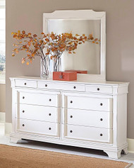 Homelegance Derby Run White Sand-Through Dresser
