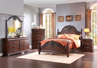 Homelegance Mont Belvieu 4-Piece Dark Cherry Bedroom Set