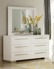 Homelegance Linnea White High Gloss Dresser