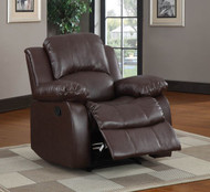 Homelegance Cranley Reclining Brown Leather Chair