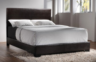 Coaster Contemporary Upholstered Low-Profile Bed Image 1