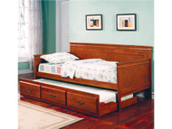 Coaster Fountain Louis Philippe Twin Daybed with Trundle in Oak Image 1
