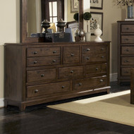 Coaster Laughton Casual Eight-Drawer Dresser in Cocoa Brown Image 1