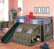 Coaster Oates Lofted Bunk Bed with Slide and Tent Image 1
