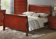 Coaster Louis Philippe Straight Bed in Cherry