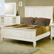 Coaster Sandy Beach Panel Bed in White