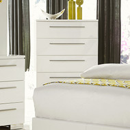 Homelegance Linnea 5 Drawer Chest in White