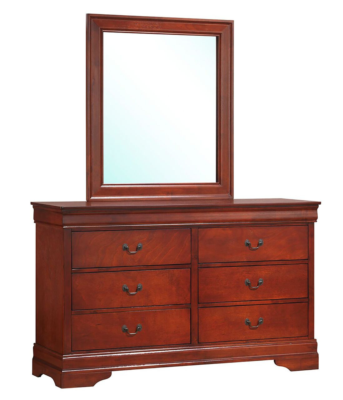 Coaster Louis Philippe Traditional Dresser In Cherry
