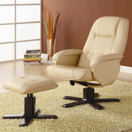 Coaster Stanley Contemporary Leisure Chair and Ottoman