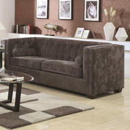 Coaster Alexis Button Tufted Chesterfield Sofa in Charcoal