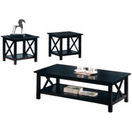 Coaster Briarcliff Casual 3 Piece Occasional Table Set in Merlot