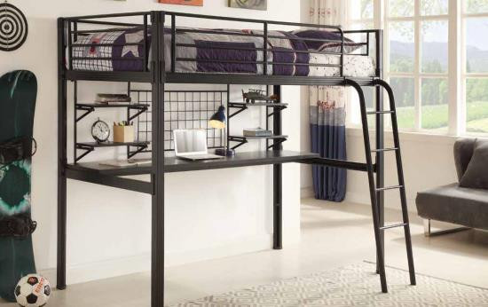 Coaster Zimmerman Twin Loft Bunk Bed With Workstation