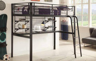 Coaster Bunks Twin Lofted Bunk Bed with Workstation