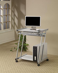 Coaster Adaline Contemporary Desk in Silver