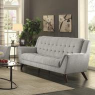 Coaster Natalia Button Tufted Modern Sofa in Dove Grey