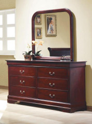 Coaster Louis Philippe Vertical Mirror in Cherry