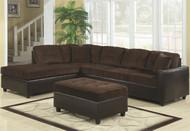 Coaster Home Furnishings Casual Sectional Sofa in Chocolate