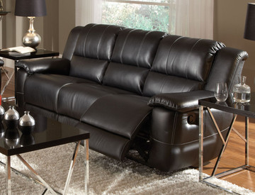 Coaster Lee Transitional Motion Sofa In Black Dealbeds Com