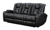Coaster Delange Reclining Power Sofa in Black