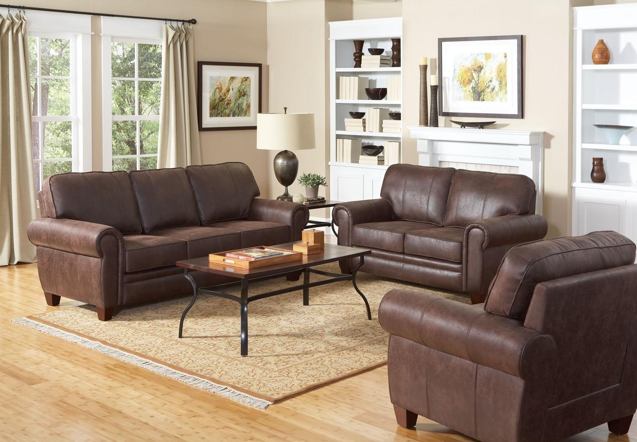Coaster Bentley Elegant And Rustic Sofa In Brown