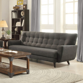 Coaster Maguire Contemporary Sofa in Charcoal