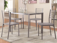 Coaster Imperial Transitional Glass Table in Grey