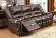 Homelegance Center Hill Sofa in Dark Brown