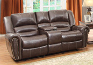 Homelegance Center Hill Loveseat in Dark Brown