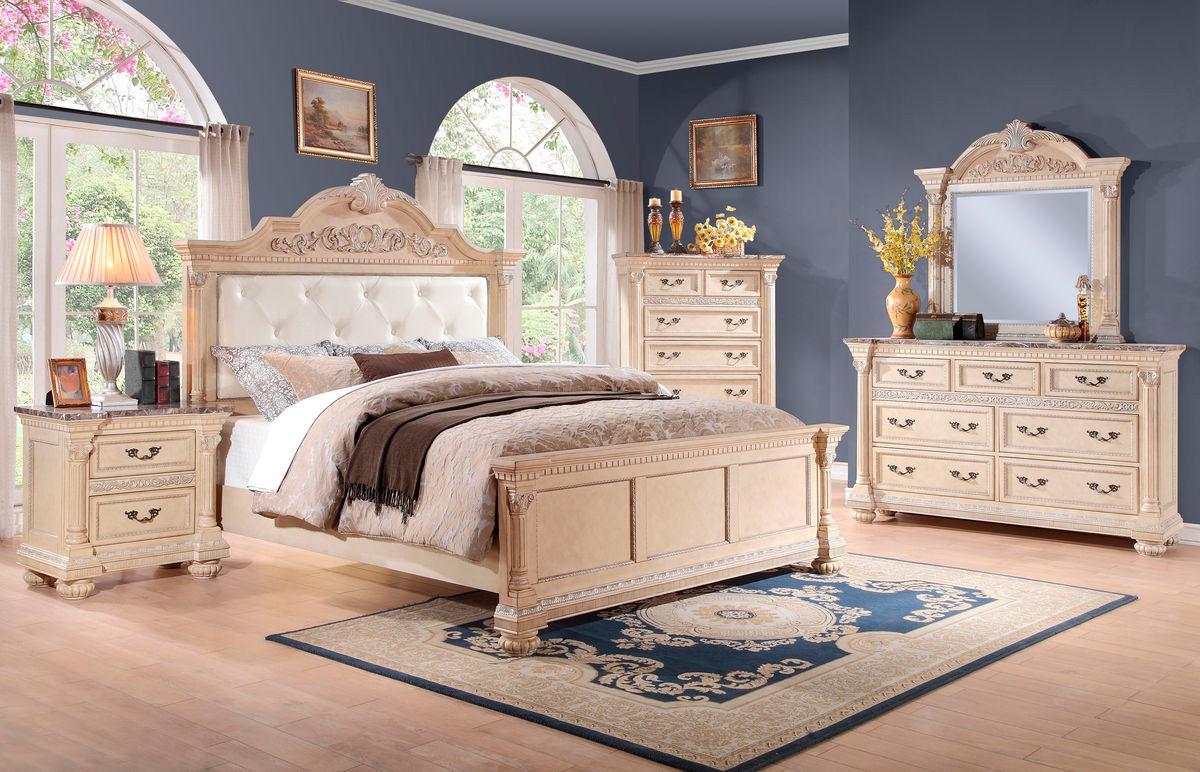 Homelegance russian hill 4 piece upholstered bedroom set for Bedroom 4 piece set