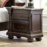 Homelegance Russian Hill Nightstand in Cherry