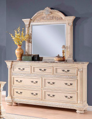 Homelegance Russian Hill Dresser and Mirror in Antique White Image 1