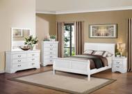 Homelegance Mayville 5-Piece Upholstered Bedroom Set in White