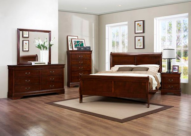 Homelegance Mayville 4 Piece Bedroom Set In Cherry
