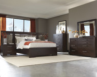 Coaster Berkshire Collection 7-Piece Panel Bedroom Set in Bitter Chocolate