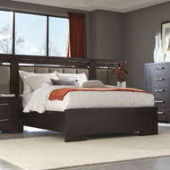 Coaster Berkshire Collection Panel Bed in Bitter Chocolate